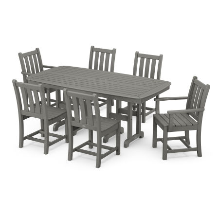 Traditional Garden 7-Piece Dining Set in Slate Grey