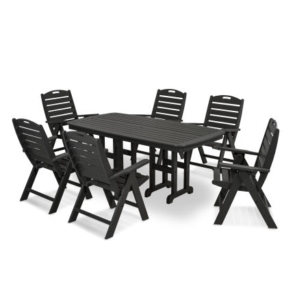 Nautical 7-Piece Dining Set in Black