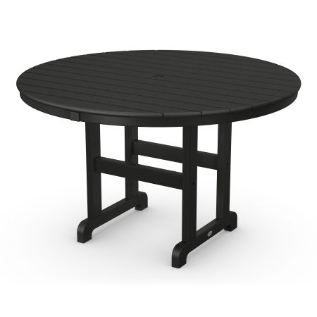 """Round 48"""" Dining Table in Black"""