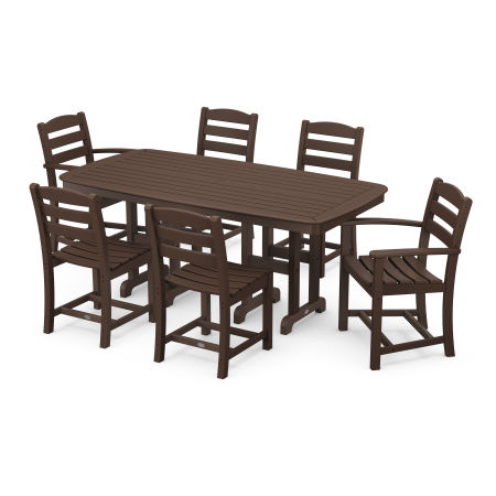 La Casa Café 7-Piece Dining Set in Mahogany