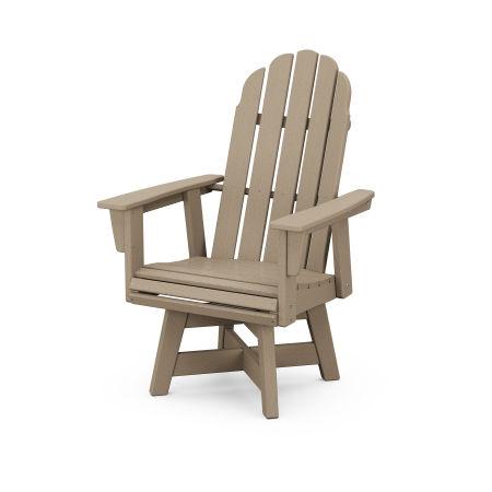 Vineyard Adirondack Swivel Dining Chair in Vintage Sahara