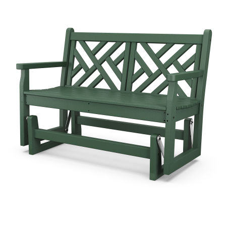 """Chippendale 48"""" Glider in Green"""