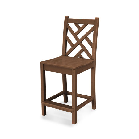 Chippendale Counter Side Chair in Teak
