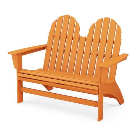 "Vineyard 48"" Adirondack Bench in Tangerine"