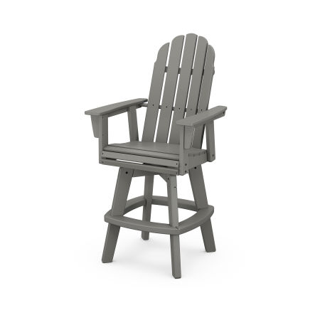 Vineyard Adirondack Swivel Bar Chair in Slate Grey