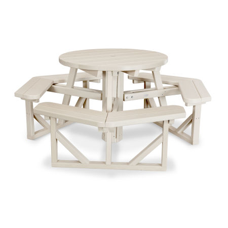 """Park 36"""" Round Picnic Table in Sand"""