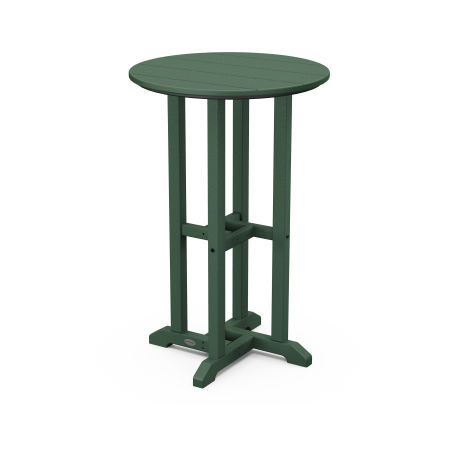 """Traditional 24"""" Round Counter Table in Green"""