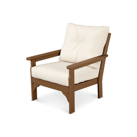 Vineyard Deep Seating Chair in Teak / Antique Beige