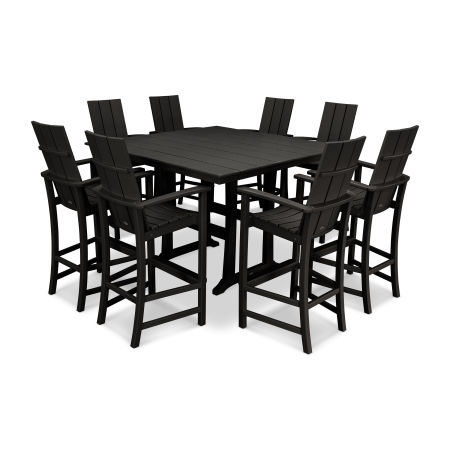 Adirondack 9-Piece Farmhouse Bar Set in Black