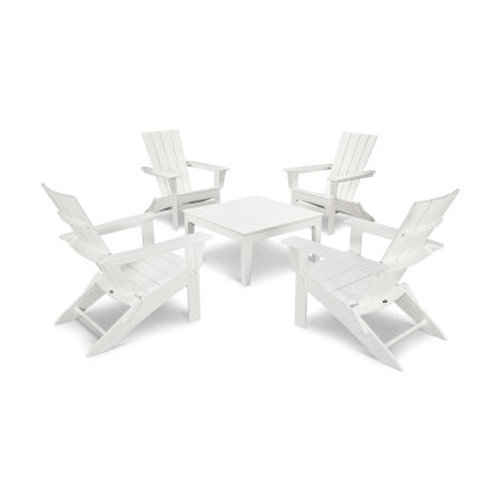Quattro 5-Piece Conversation Set  in White