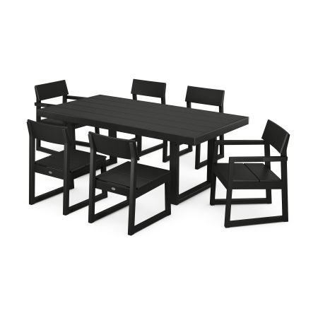 EDGE 7-Piece Dining Set in Black