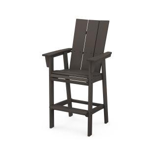 Modern Curveback Adirondack Bar Chair in Vintage Finish