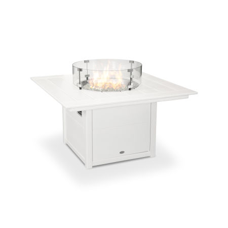 "Square 42"" Fire Pit Table in White"