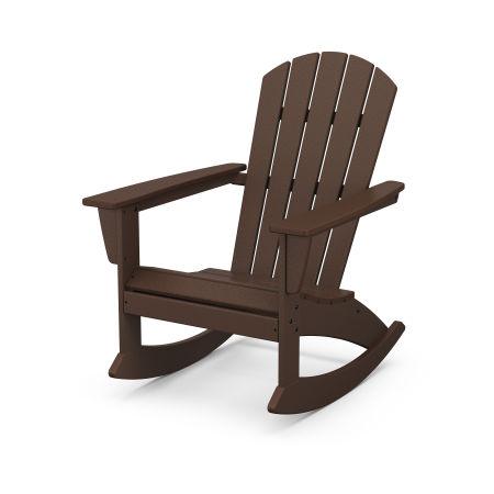 Nautical Adirondack Rocking Chair in Mahogany