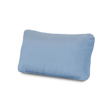 Outdoor Lumbar Pillow in Air Blue