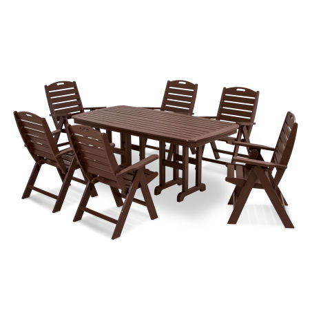 Nautical 7-Piece Dining Set in Mahogany