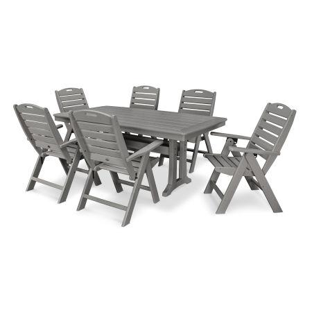 7 Piece Nautical Dining Set in Slate Grey