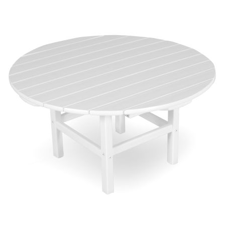 """Round 38"""" Conversation Table in White"""