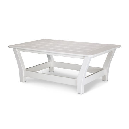 Harbour Slat Coffee Table in White