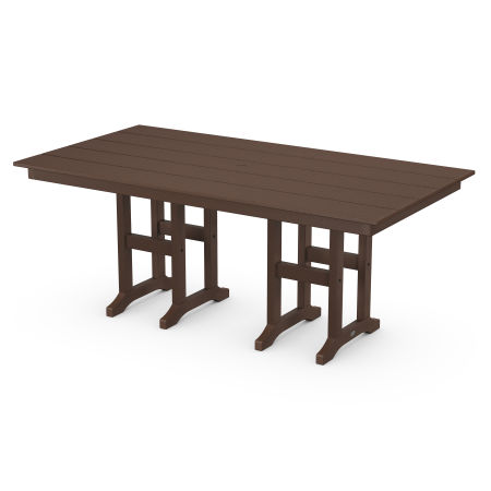 "Lakeside 37"" x 72"" Farmhouse Dining Table in Mahogany"