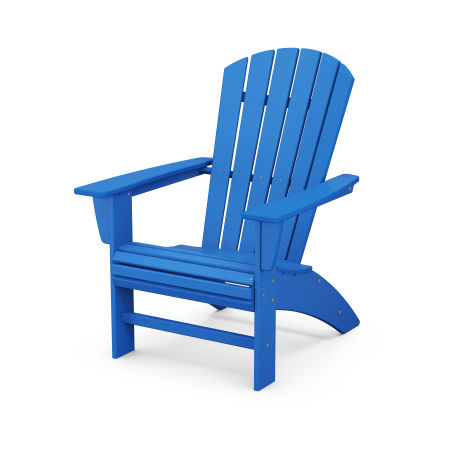 Nautical Curveback Adirondack Chair in Pacific Blue