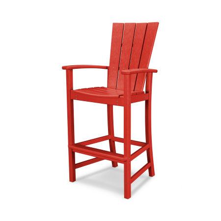 Quattro Adirondack Bar Chair in Sunset Red