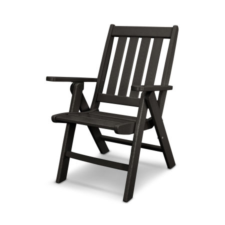 Vineyard Folding Dining Chair in Black