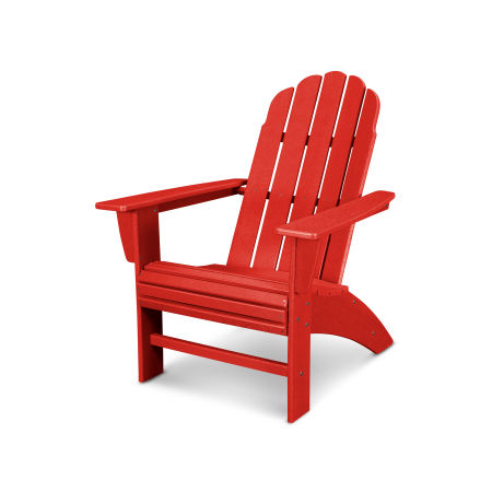Vineyard Curveback Adirondack Chair in Vintage Sunset Red