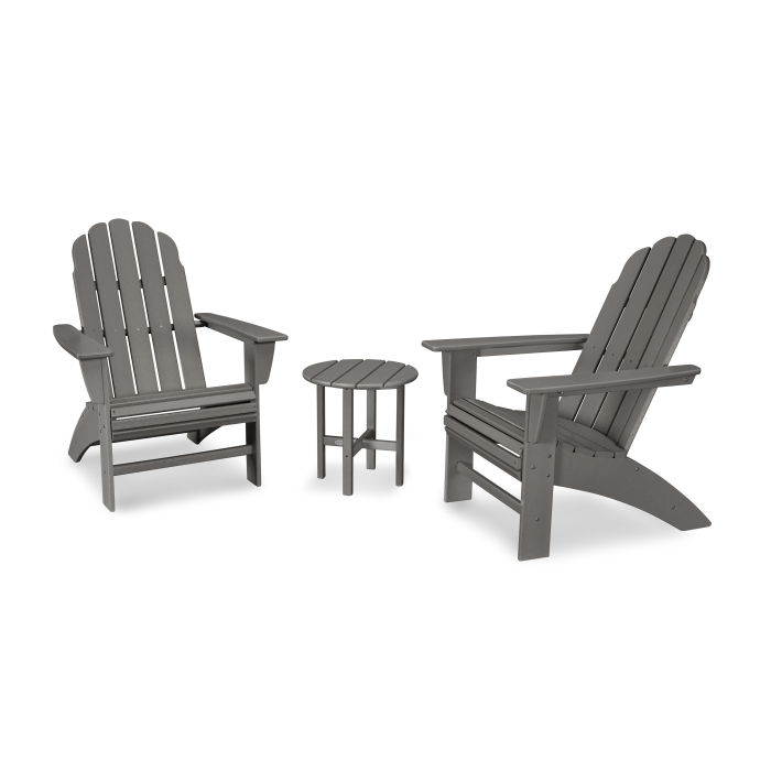 Vineyard 3-Piece Curveback Adirondack Set
