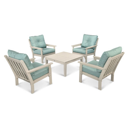 Vineyard 5-Piece Conversation Set in Sand / Spa