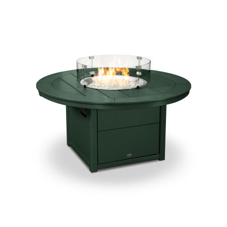 "Round 48"" Fire Pit Table in Green"