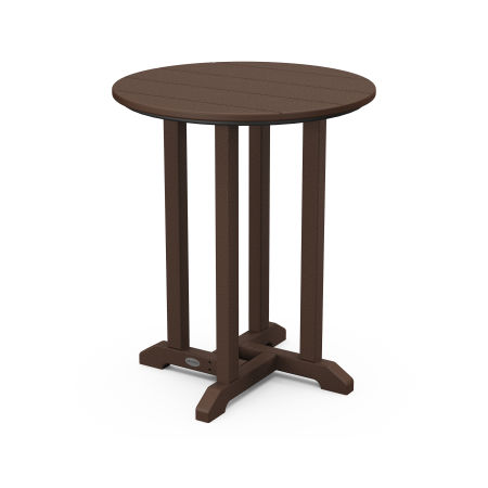 """24"""" Round Dining Table in Mahogany"""