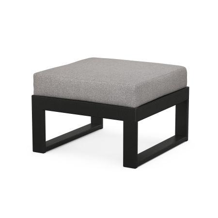 Modular Ottoman - Modern in Black / Grey Mist