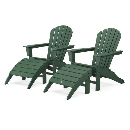 South Beach 4-Piece Adirondack Set in Green