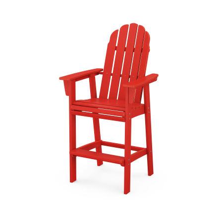 Vineyard Adirondack Bar Chair in Sunset Red