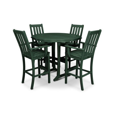 Vineyard 5-Piece Bar Set in Green