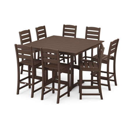 Lakeside 9-Piece Bar Side Chair Set in Mahogany