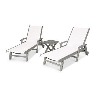 Coastal 3-Piece Wheeled Chaise Set