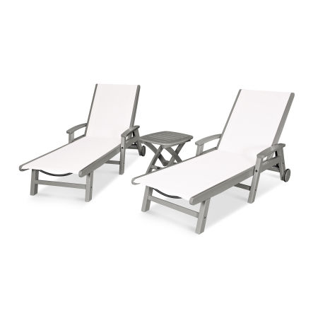 Coastal 3-Piece Wheeled Chaise Set