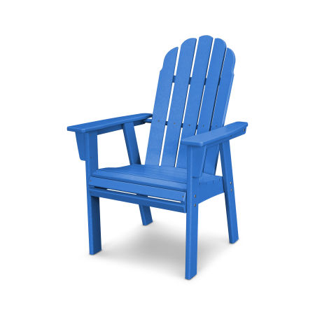 Vineyard Adirondack Dining Chair in Pacific Blue