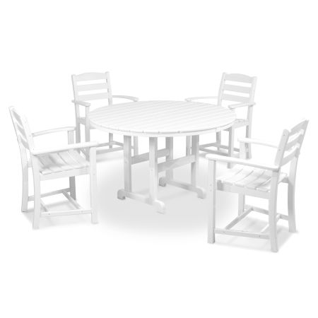 La Casa Café 5-Piece Dining Set in White