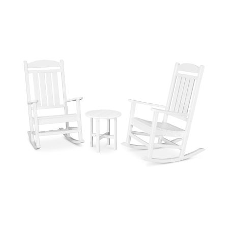 Presidential 3-Piece Rocking Chair Set in White