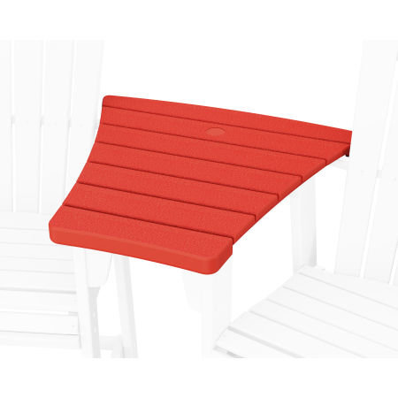 600 Series Angled Adirondack Dining Connecting Table in Sunset Red