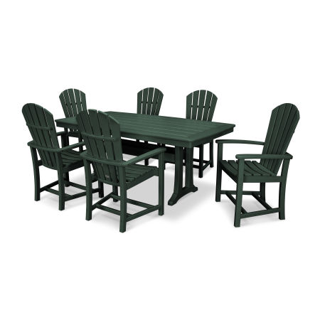 Palm Coast 7 Piece Dining Set in Green