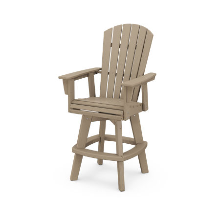 Nautical Adirondack Swivel Bar Chair in Vintage Sahara