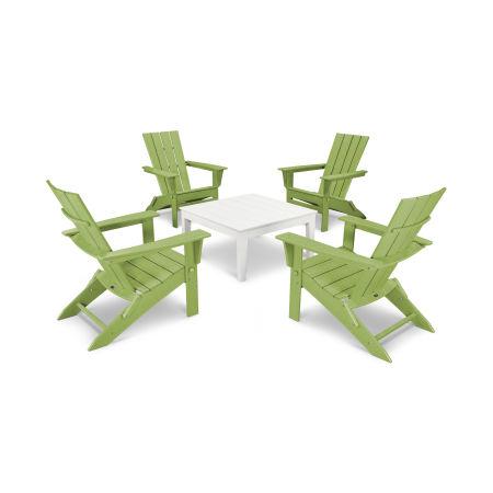 Quattro 5-Piece Conversation Set in Lime