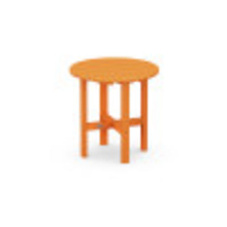 "Round 18"" Side Table in Tangerine"