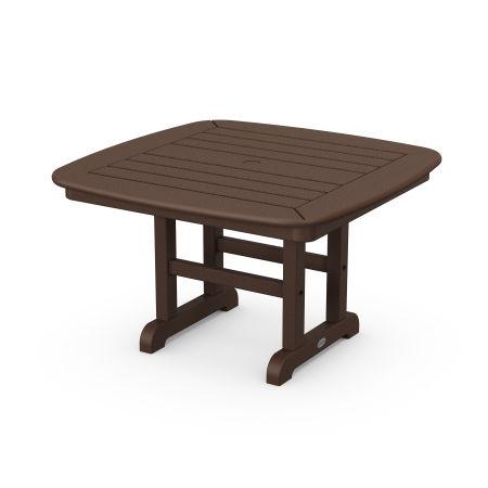 "Nautical 31"" Conversation Table in Mahogany"