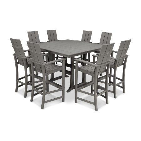 Modern Adirondack 9-Piece Farmhouse Trestle Bar Set