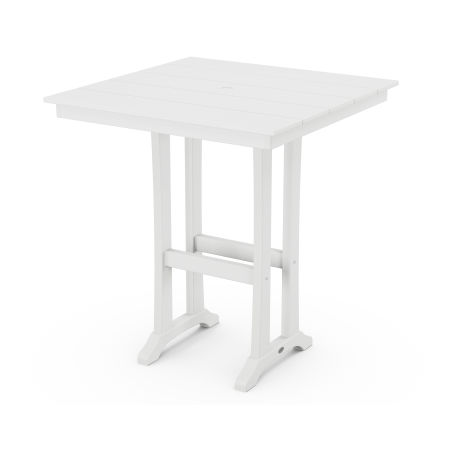 "37"" Bar Table in White"